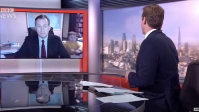 BBC viral video dad